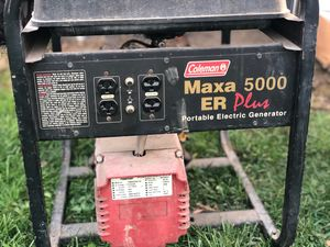 COLEMAN GENERATOR 5000 WATTS for Sale in Eugene, OR
