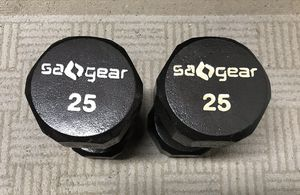 SA() Gear 25lbs dumbbells (pair) for Sale in Sammamish, WA
