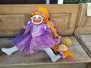 Baby Rapunzel costume dress with DIY wig for Sale in San Diego, CA