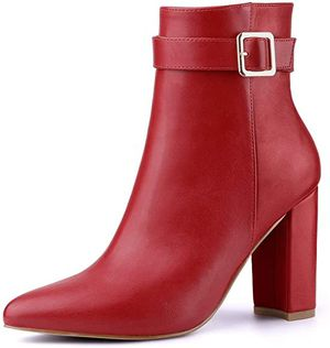 Women's Pointed Toe Buckle Decor Heel Ankle Booties abeleble in size.7 and 9 for Sale in City of Industry, CA
