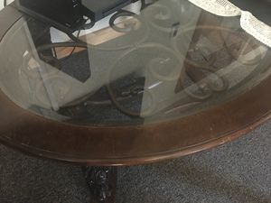 Small Wooden table with glass top. for Sale in Newcastle, WA
