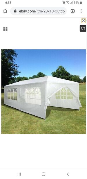 20'x10' Outdoor Party Wedding Tent Patio Heavy Duty Canopy Pavilion Cater Events for Sale in Bellflower, CA