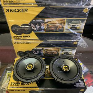 Kicker Car Audio . 6.5 Inch Car Stereo Speakers . 300 watts . Holiday Super Sale . $59 A Pair While They Last . New for Sale in Gilbert, AZ
