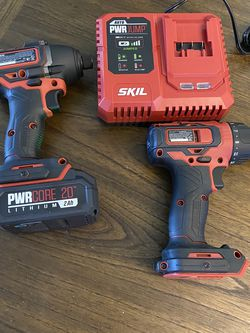 20v Brushless Drill, Impact Driver, Battery, And Charger (Skil Pwrcore 20) for Sale in Las Vegas,  NV