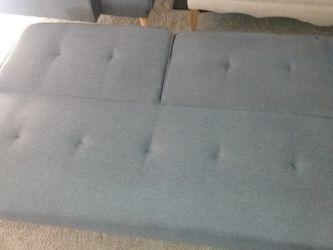 Gray Futon Full Sleeper (Small Tear On Front And On Back) for Sale in Jonesboro,  GA