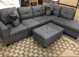 Brand new grey linen sectional couch for Sale in Portland, OR