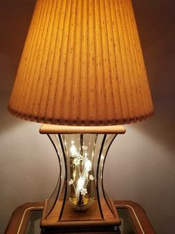 Oak and Brass Lamp for Sale in Irwin,  PA