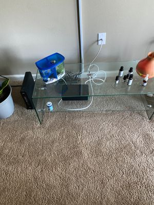 Glass tv stand for Sale in Nashville, TN