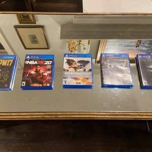 PS4 Games Bundle Or Separate, NBA 2k20, Overwatch, Dishonored 2, Assasins Creed Syndicate, MLB The Show 17 for Sale in Dallas, TX