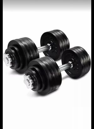 105 LBS Adjustable Dumbbells Fitness Weight Set Gym (Each 52.5lb) for Sale in The Bronx, NY