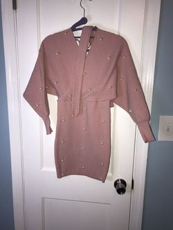 Pink sweater pearl dress for Sale in Essex,  MD