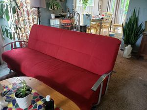 Red large couch/futon for Sale in Columbus, OH