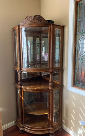 Corner china cabinet, antique for Sale in San Dimas, CA
