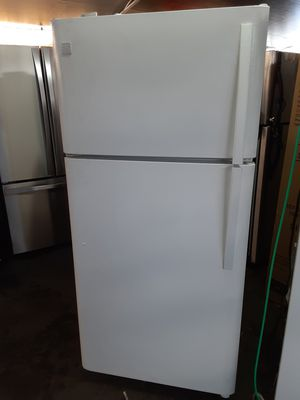 $199 Kenmore white 18 cubic fridge includes delivery in the San Fernando Valley a warranty and installation for Sale in Los Angeles, CA
