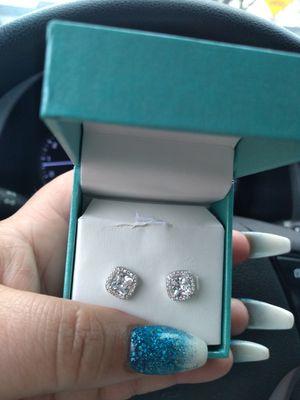 Diamond cluster earrings for Sale in Columbus, OH
