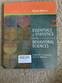 Essentials Of Statistics For The Behavioral Sciences Eight Edition - Used Like New for Sale in San Diego,  CA