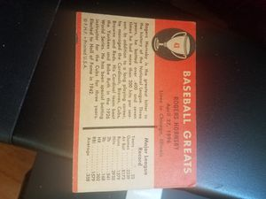 Signed Rogers Hornsby Card for Sale in Camden, AR