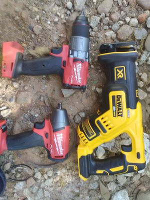 DeWalt xr saw saw and fuel millwaukke impact and drill for Sale in Greenville, SC