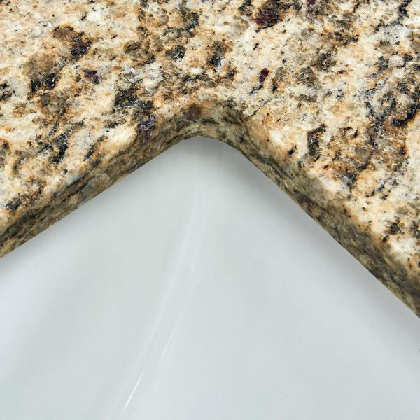 Bestview 37-in Santa Cecilia Granite Bathroom Vanity Top with s splash