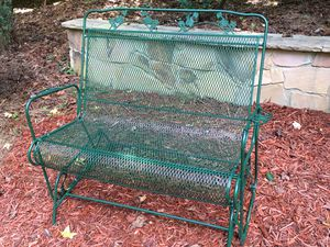 Wrought iron glider great condition for Sale in Cumming, GA