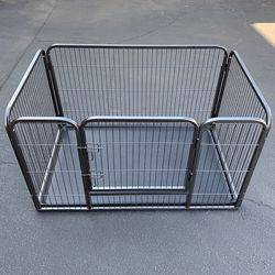 """New $85 Heavy-Duty Dog Pet Playpen with Plastic Tray Indoor Outdoor Cage Kennel 4-Panel, 49x32x28"""" for Sale in Whittier,  CA"""