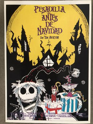 Postcard Spanish movie poster nightmare before Christmas for Sale in Irvine, CA