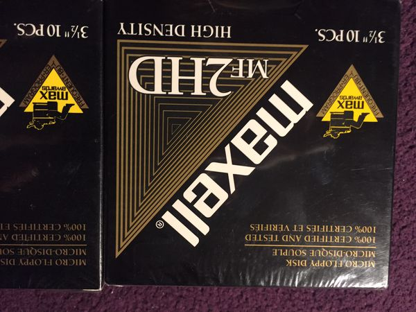 Maxall mf2hd set of 2 sealed floppy disks