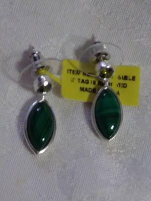 ! Malachite & Mystic topaz earrings. 1 and 1/4 in for Sale in Palmetto, FL