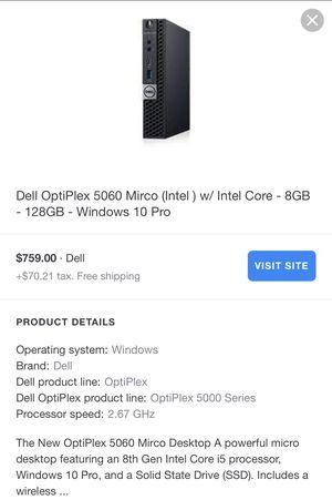 Dell OptiPlex 5060 i5 core for Sale in Murfreesboro, TN