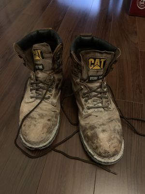 CATERPILLAR STEEL TOE WORK BOOTS for Sale in Palmdale, CA