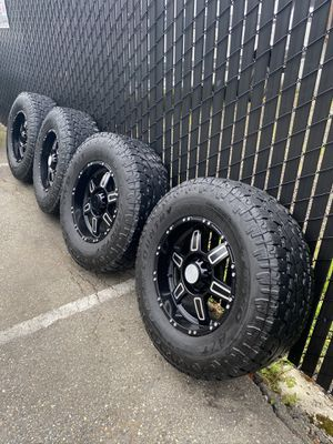 """Set of 18"""" rims and tires for Sale in Seattle, WA"""