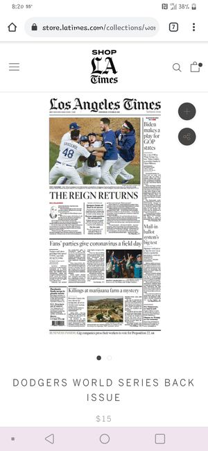 Los Angeles times Dodgers for Sale in La Mirada, CA