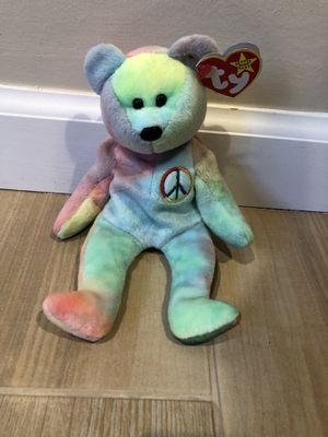 Peace Bear TY Beanie Baby 1996: Near-Mint Condition for Sale in Oceanside, NY