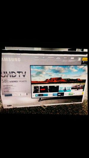 Price firm brand new 58 inch Samsung 4K smart 6070 model no Trading for Sale in Winston-Salem, NC