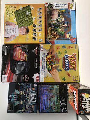 Puzzles board games for Sale in Arlington, VA