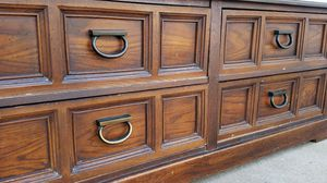 Beautiful HEAVY SOLID WOOD 4 Drawer Dresser Chest Clothes Storage Organizer Wardrobe Stand Unit Entertainment TV Media for Sale in Monterey Park, CA