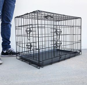 """(NEW) $35 Folding 30"""" Dog Cage 2-Door Folding Pet Crate Kennel w/ Tray 30""""x18""""x20"""" for Sale in Whittier, CA"""