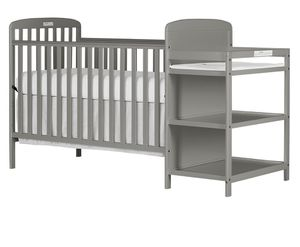 Dream On Me 4-in-1 - Full Size Crib and Changing Table Combo + Mattress (incl cover and 2 sheets) for Sale in Jersey City, NJ