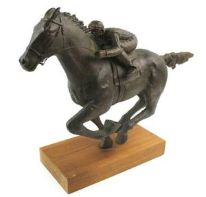 Vintage Austin Sanfilippo Racehorse & Jockey Bronzed Statue for Sale in New Port Richey, FL