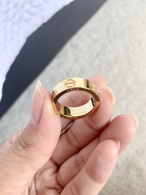 Yellow gold wedding band women's 6 LOVE ring for Sale in West Covina, CA