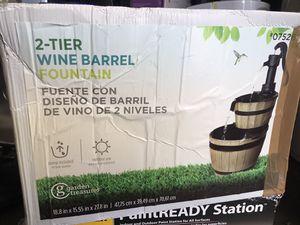2 TIER WINE BARREL FOUNTAIN for Sale in Downey, CA