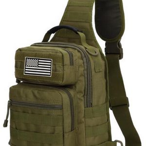 Green Tactical Sling Bag With Flag Patch - New for Sale in Happy Valley, OR