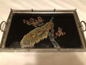 Antique Peacock Mirrored Tray for Sale in Gadsden, AL