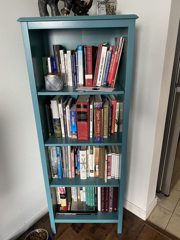 Four shelf bookcase from Target - Teal