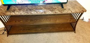 Brown TV Stand- fits up to 65' inch TV for Sale in St. Louis, MO