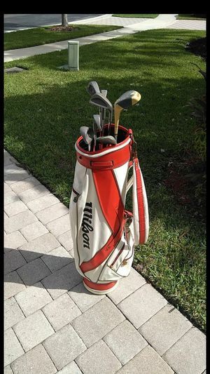 Wilson Golf bag with clubs for Sale in Loxahatchee, FL