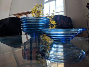 Antique Mod Blue Glass Bowls for Sale in Atlanta, GA