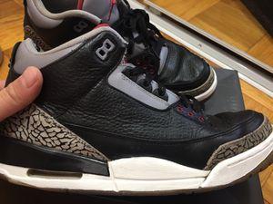 Jordan 3 black cement sz 10.5 for Sale in Gaithersburg, MD