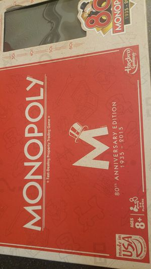 Monopoly 80th Anniversary board game for Sale in Elmwood Park, IL