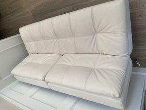 White Leather Futon for Sale in Porter Ranch, CA
